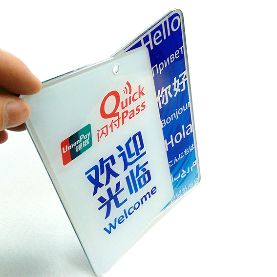 Acrylic wall mounted Signage and door signage display with custom-made for UnionPay bank system