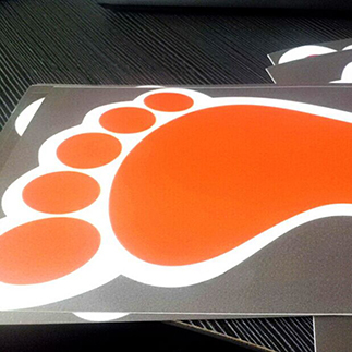 UV Resistant Removable floor magnets graphic decals and vinyl floor graphics sticker